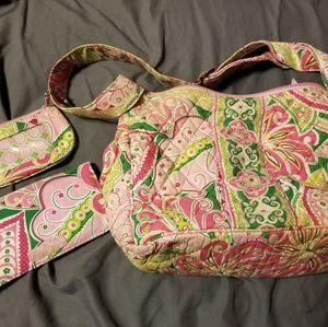 Vera Bradley purse with ID case&checkbook cover